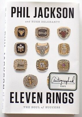 Phil Jackson Signed Eleven Rings: The Soul of Success Book SI
