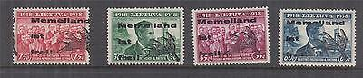 LITHUANIA, GERMANY, MEMELLAND IST FREI,1939 set of 4, lhm.