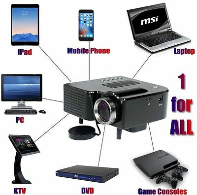 Full HD 1080P Home Theater LED Mini Multimedia Projector Cinema USB Phone PC AU