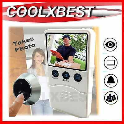 DIGITAL DOOR BELL CAMERA MONITOR Takes Photo When Bell Pressed PEEPHOLE SECURITY