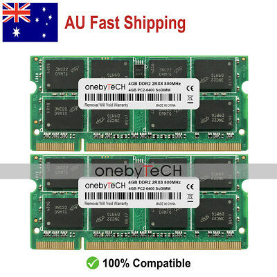 AU New 8GB KIT 2X4GB PC2-6400S DDR2-800Mhz 200-PINS SO-DIMM Laptop Memory Module
