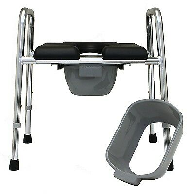 Eagle Health Padded Shower Chair Raised Toilet Seat Safety Frame Commode 300 lbs