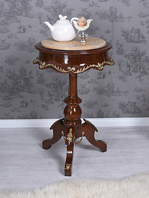 teetisch barock tisch beistelltisch intarsien coffee table. Black Bedroom Furniture Sets. Home Design Ideas
