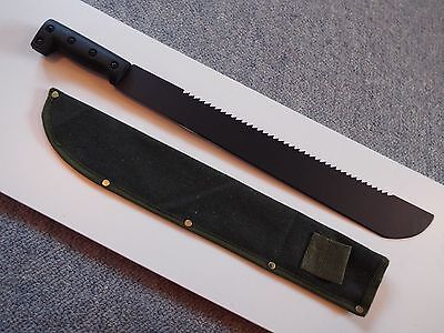 "BRAND NEW SAWBACK MACHETE / WITH SHEATH  - 18""Blade - Overall  Length 570mm"