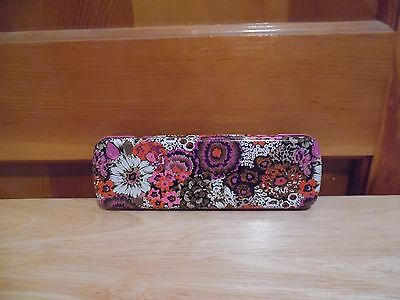 Vera Bradley ROSEWOOD Pencil Set With Tin - NEW