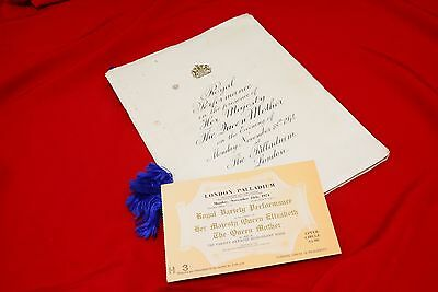 1974 Royal Variety Performance Programme and Ticket (RM13)