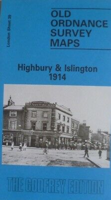 Old Ordnance Survey Maps Highbury & Islington London  1914 Special Offer