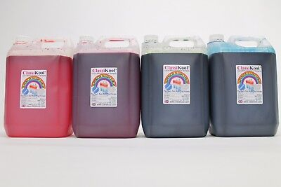Classikool 4 x 5L Slush Puppy Syrup Set [2x Red Strawberry & 2x Blue Raspberry]