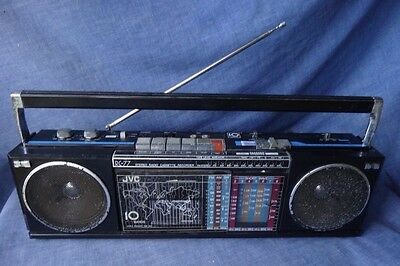 Rare Vintage JVC RC-77 10 Band Boombox, Radio Cassette Player, AM /FM / 8 x SW