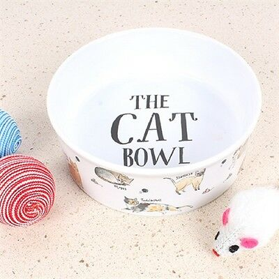 Milly Green Curious Cats Ceramic Cat Feeding Bowl
