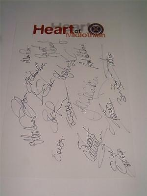 HEART OF MIDLOTHIAN FC HEARTS FC 1997-1998 SQUAD HAND SIGNED x 17 AUTOGRAPHS