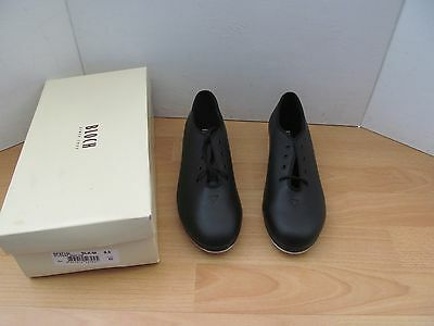 Bloch Student Jazz Tap Shoes Taps On Toes And Heels Black Size Uk 8.5 New