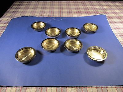 """Antique W & S Blacainfon Silver Plate Dishes/coasters- 4"""""""