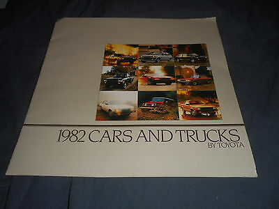 1982 Toyota Corolla Celica Land Cruiser  Color Sales Brochure Catalog Prospekt