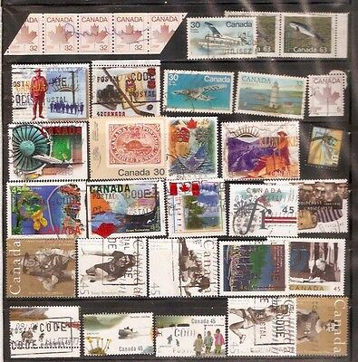 a stock page of recent used stamps from Canada.(cda-o)