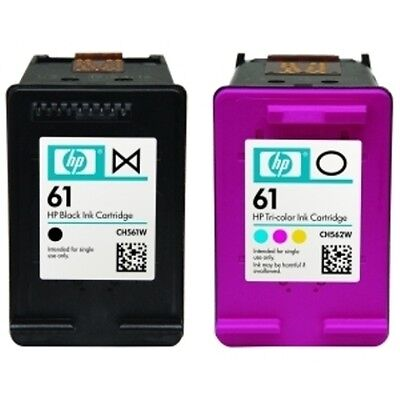 HP #61 Combo Ink Cartridges Black & Color NEW GENUINE