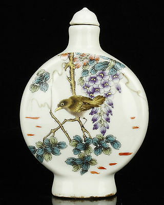 China Collectible Handwork Painting Jingdezhen Porcelain Snuff Bottles