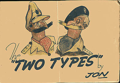 TWO TYPES by Jon published British Army Newspaper Unit ca 1946