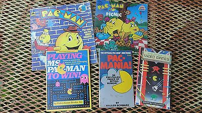 80s 5 Pac Man Books Playing Ms Pac Man To Win How To Win at Video Games PacMania