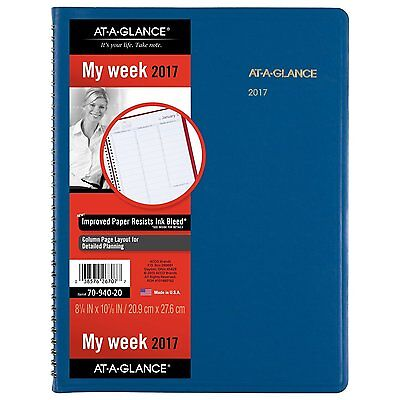 """AT-A-GLANCE Weekly Appointment Book / Planner 2017, 8-1/4 x 10-7/8"""", Fashion"""