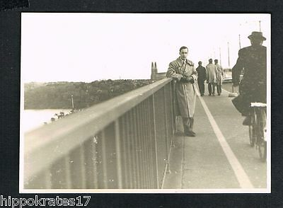 STOCKHOLM, Photo vintage Foto, Mann Brücke Schweden sweden man bridge (74)