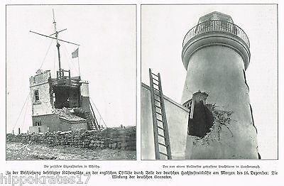 1914, WW1, Leuchtturm Scarborough, Signalstation Whitby, deutsche Granaten (24)