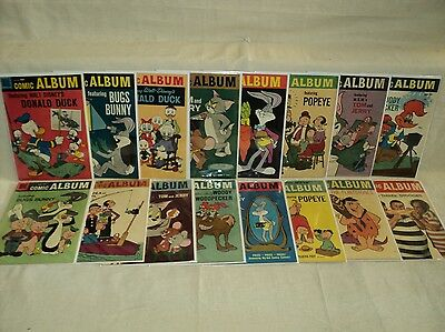 Comic Album 1-18 (miss.2bks) SET Solid! 1958-1962 Dell Comics (s 8705)