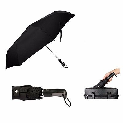 Windproof Automatic Travel Umbrella Auto Open Close Compact Folding Waterproof