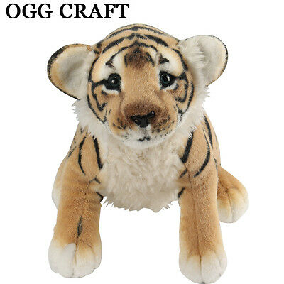 2017 Baby sitting brown/white tiger/leopard/lion plush soft toys stuffed animals