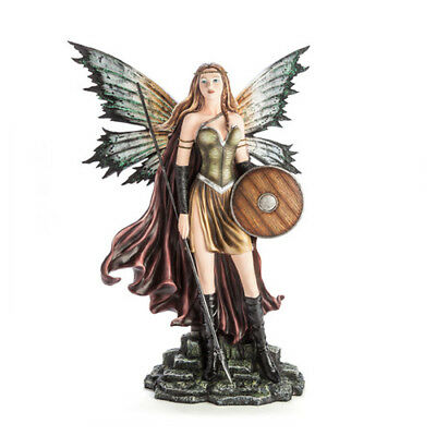 Fairy Shieldmaiden with Spear Warrior Lady Stunning Look Display Desk Decoration