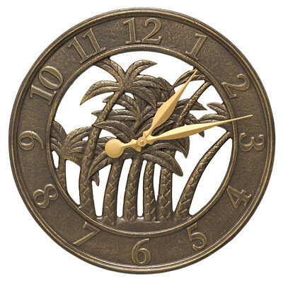 Whitehall Products Palm Clock, French Bronze