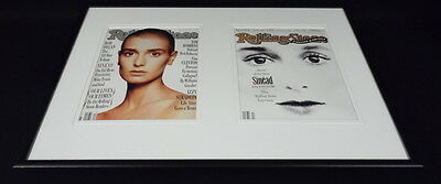 Sinead O'Connor Framed 12x18 Rolling Stone Cover Display