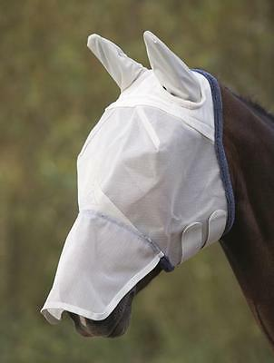Shires Field Durable Fly Mask With Ears & Nose - Grey - 6669