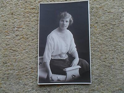 .real Photo Postcard.young Lady. By Allen Nield's  Successors.not Posted.