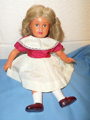 """12"""" Snf French Celluloid Girl Doll With Wig!"""