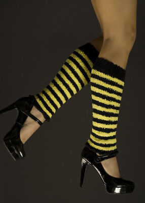 Yellow Striped Bee Leg Warmers