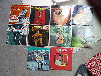 Job Lot of Vintage VINYL LP ALBUMS x 10 HANK SNOW Country & Western Music