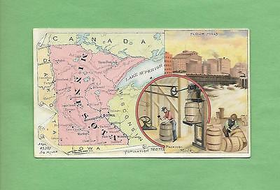 Historic Scenes From MINNESOTA On ARBUCKLE COFFEE #65 1889 Victorian Trade Card