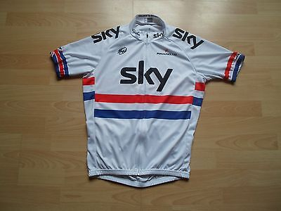 Team Sky Pinarello White Bike Cycling Shirt Maglia Jersey Top Size Large