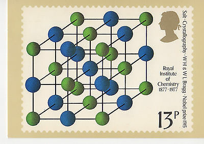 GREAT BRITAIN -  CHEMISTRY - PHQ21(d) WITH CORRESPONDING STAMP ATTACHED - 1977