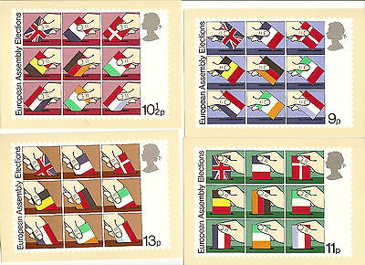 Great Britain - European Assembly - Phq Card #35 -  Set  Of 4 - 1979