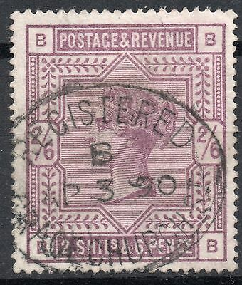 (321) Very Good Lightly Used 1883 Sg179 Qv 2/6 Deep Lilac Pmk Ap 3 1890