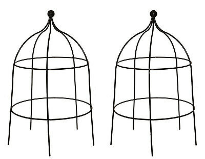 Pack of 2 x Heavy Duty Metal Herbaceous Cloches - Plant Garden Flower Supports