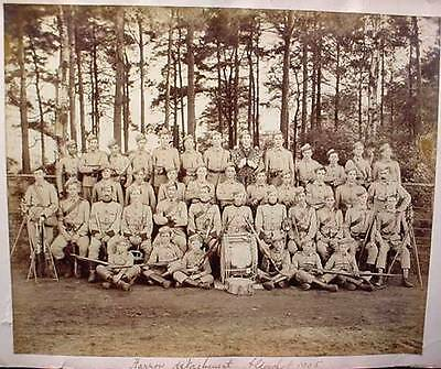 Photo Harrow Detachment Aldershot 1905 Pre WW1 British Military  Rifles Uniforms