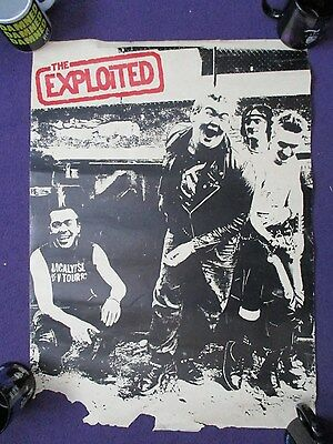 vintage THE EXPLOITED POSTER 1980'S very rare