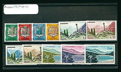Lot of 11 Andorra MH Mint Hinged No Gum Stamps Scott # 143 - 153 #88929 X