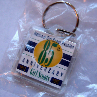 Girl Scout 1997 85th ANNIVERSARY KEY CHAIN Year Reunion Jewelry Keychain NEW