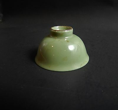 Rare Antique Chinese Celadon Cup Probably Very Old Maybe Ming or Later Only 2""