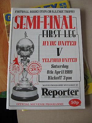 1989 FA Trophy Semi Final 1st leg Hyde United v Telford United 8.4.1989