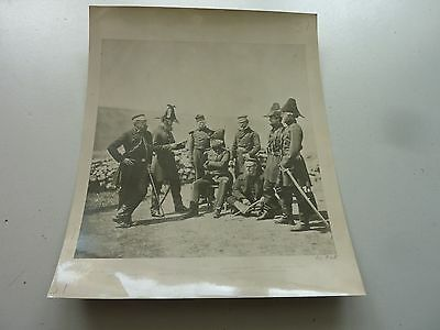 Vintage V & A Museum Photo Crimean War Navy & Army Officers Named 7.5 X 6 Inch